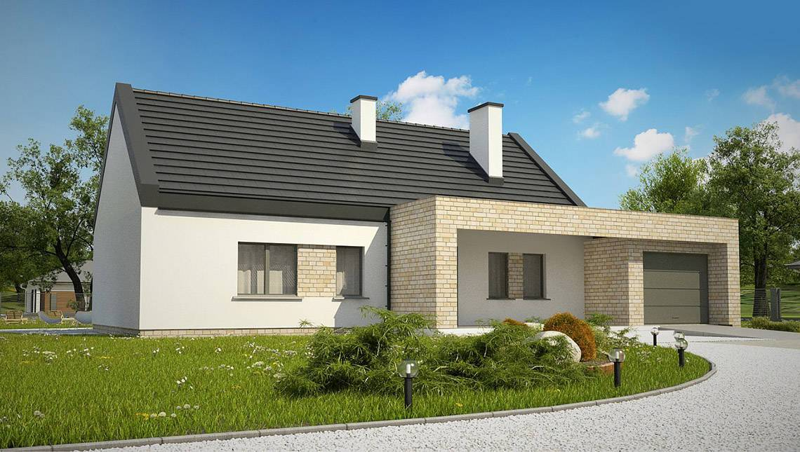 готовые проекты домов из шлакоблока