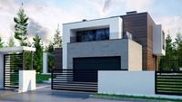 Проект двухэтажного особняка с площадью более 300 m²