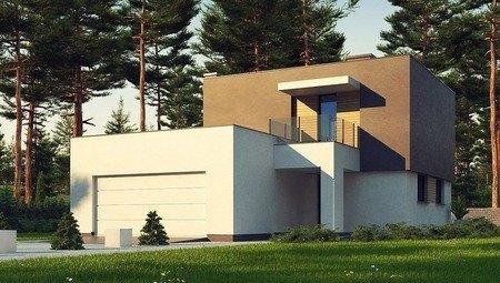 Проект современного компактного двухэтажного дома площадью 150 m²
