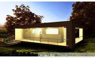 Готовый проект одноэтажного небольшого дома с плоской крышей