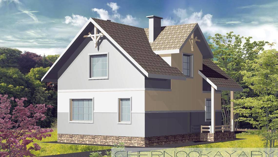 Пригожее жилое здание с цокольным этажом
