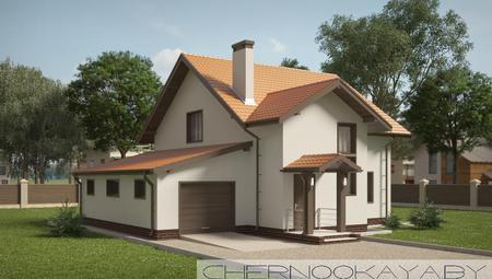 Компактный коттедж с гаражом и просторными индивидуальными комнатами