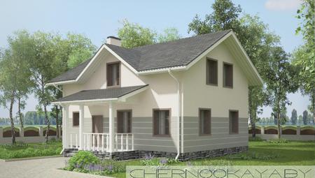 Двухэтажный особняк со спальней для гостей