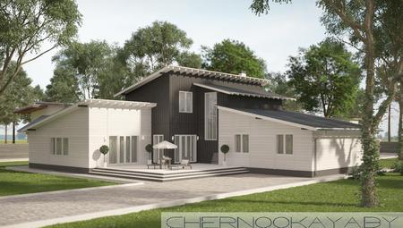 Стильное современное здание для загородного отдыха
