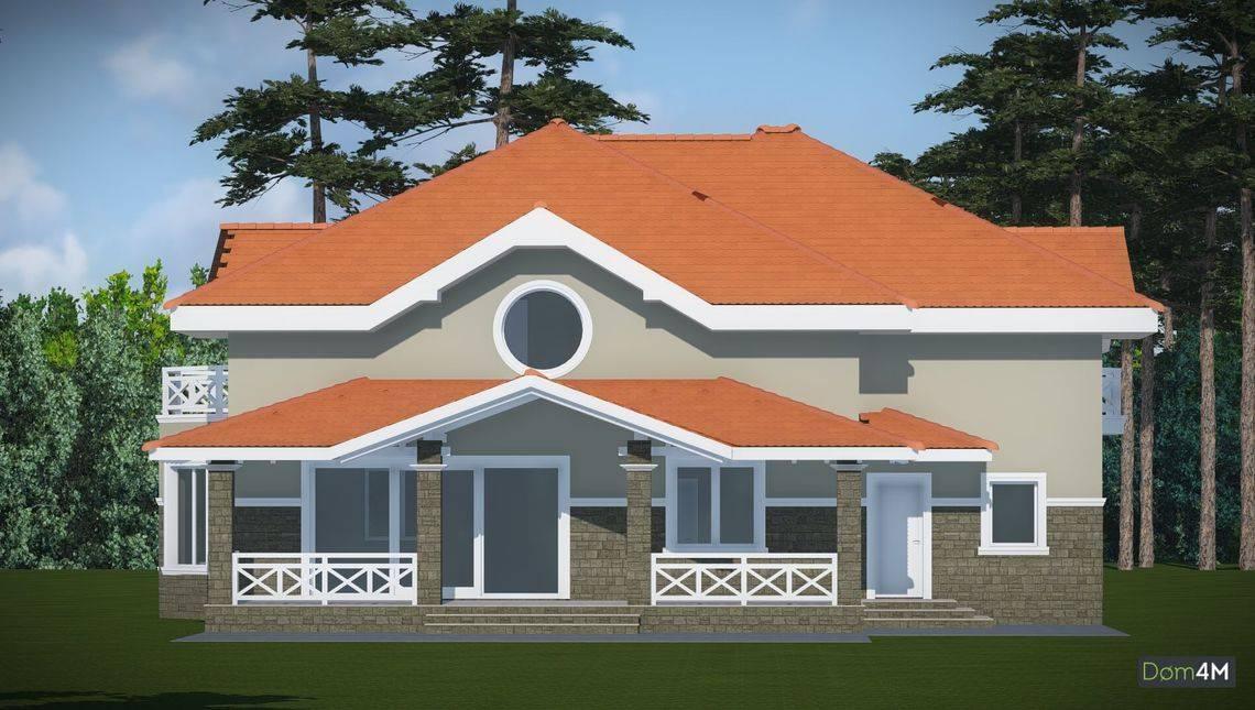 Архитектурный проект особняка с гаражем и большими спальнями