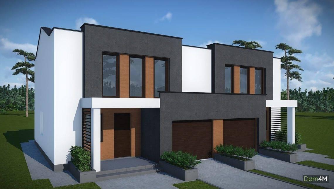 Проект дома на две семьи с гаражами