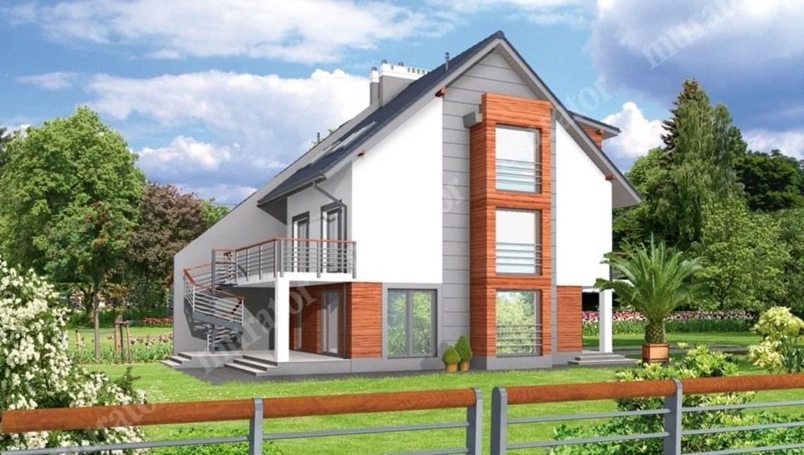 Проект современного таунхауса на две семьи
