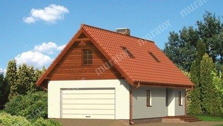 Проект современного гаража с автомастерской и жилым помещением
