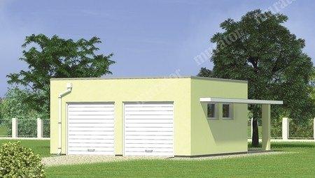 Проект удобного гаража на 2 машины