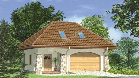Проект гаража-замка на две машины с мансардой