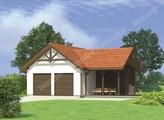 Проект капитального гаража на 2 авто с красивой крышей