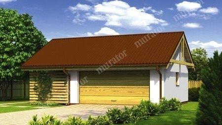 Жизнерадостный гараж на 1 машину