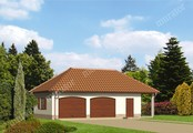 Проект красивого просторного гаража