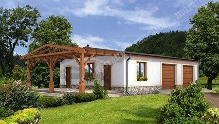 Проект гаража на 2 автомобиля с жилыми помещениями