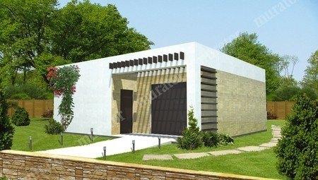 Проект симпатичного гаража с жилой комнатой