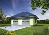 Проект гаража на 2 машины под четырехскатной крышей