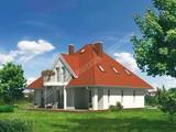 Интересный проект дома с 3 балконами