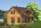 Проект деревянного дома со ставнями