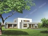 Проект современного дома с гаражом на 2 автомобиля