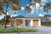 Проект одноэтажного жилого дома на 4 спальни