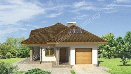 Проект красивого дома с 2 террасами