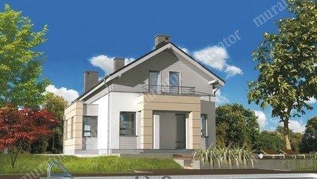 Проект стильного жилого дома на 2 балкона