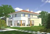 Проект двухэтажного дома с балконами