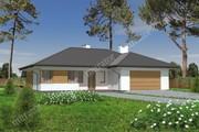 Проект одноэтажного просторного дома с гаражом