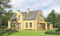 Проект кирпичного дома интересной планировки