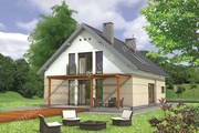 Проект стильного строения с двухскатной крышей