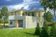 Проект стильного дома с террасой на втором этаже