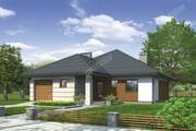 Одноэтажный дом с декоративными элементами из древесины