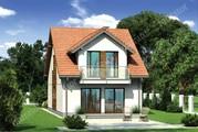 Проект дома на 2 этажа для узкого участка