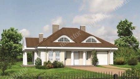 Проект особняка в классическом стиле с колоннами