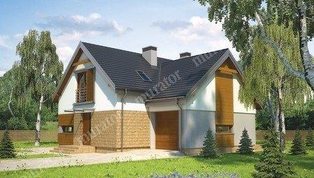 Проект красивого жилого дома на два этажа
