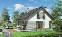 Проект двухэтажного дома в форме квадрата