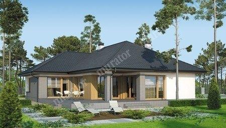 Проект одноэтажного дома с верандой
