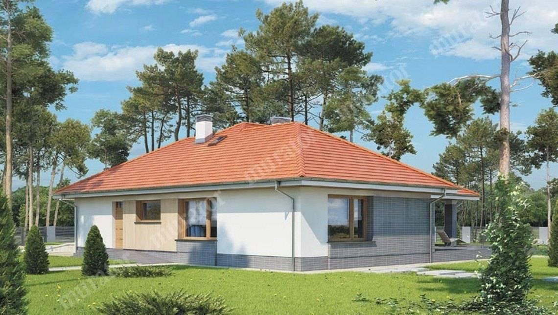 Проект одноэтажного дома в жизнерадостной расцветке
