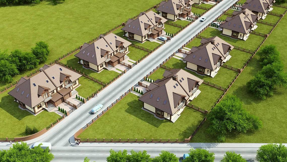 Проект двухэтажного загородного дома с чердаком на две семьи