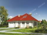 Проект жилого дома с мансардой и гаражом на 2 машины