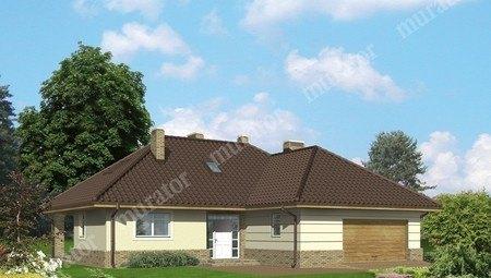 Проект интересного жилого дома с мансардой