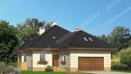 Проект привлекательного жилого дома с кирпичным орнаментом