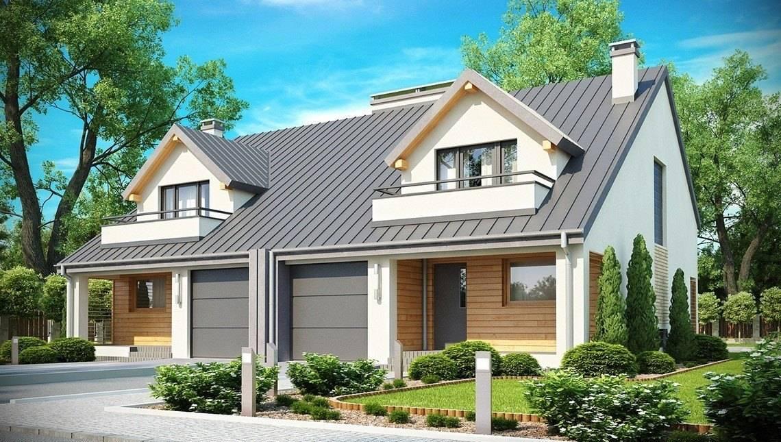 Проект компактного дома на две семьи