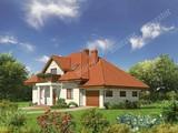 Проект двухэтажного дома под крышей сложной формы