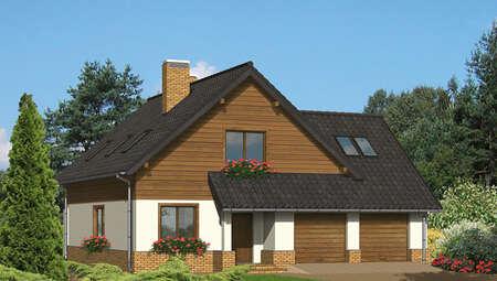 Проект симпатичного дома в коричневых тонах