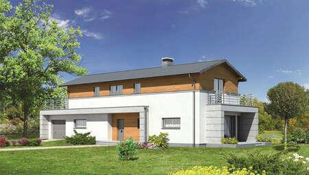Интересный дом для узкого участка