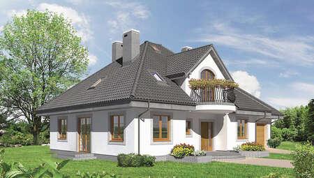 Проект великолепного особняка с полукруглыми балконами