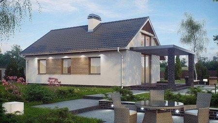 Проект удобного маленького одноэтажного дома