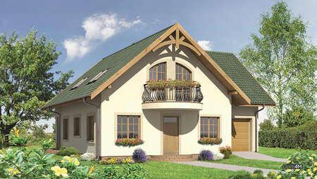 Проект жилого дома с полукруглыми террасами