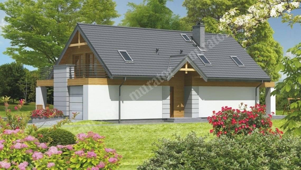 Двухэтажный особняк с большой террасой